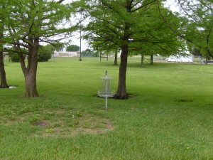 Disc Golf Basket in Park