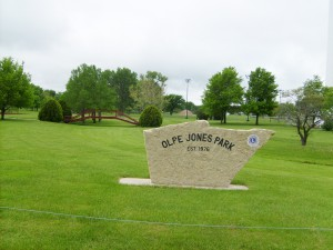 Olpe Jones Park Sign